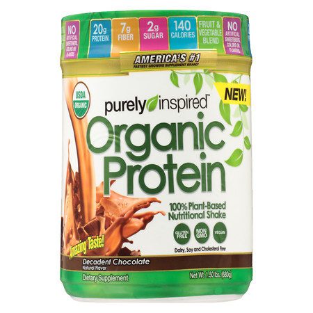 Purely Inspired 100% Plant-Based Protein Nutritional Shake Decadent Chocolate - 24 oz.