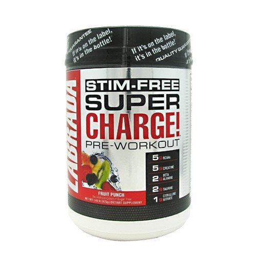 Super Charge Stim Free Fruit Punch 1.49 by LABRADA NUTRITION
