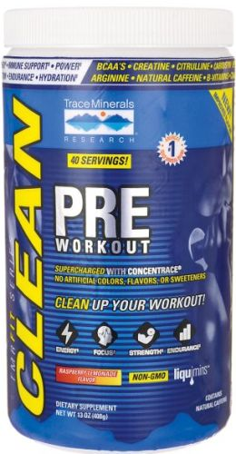 TMRFIT Series Clean Pre Workout 18.1 oz, powder by Trace Minerals Research