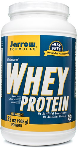 Whey Protein Unflavored 32 oz, powder by Jarrow Formulas