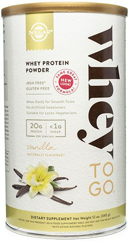 Whey To Go® Protein Powder Natural Vanilla Flavor 12 Ounces, Powder by Solgar