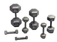 1390921 Hex Dumbbell Set, 55-100 lbs