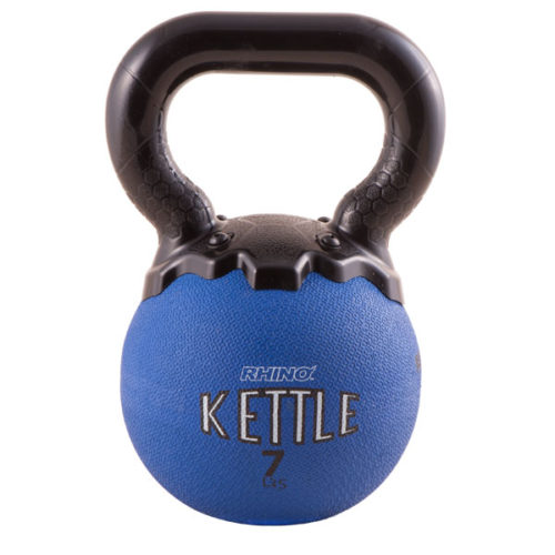 MKB7 7 lbs Mini Rhino Kettle Bell, Blue