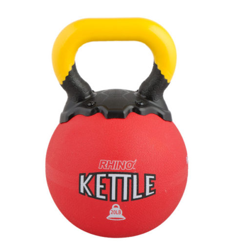 RKB20 20 lbs Rhino Kettle Bell, Red