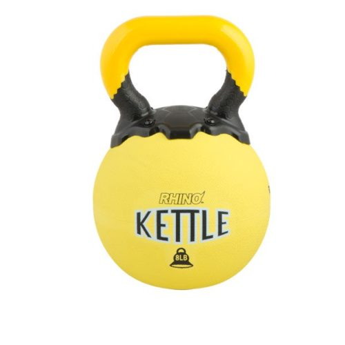 RKB8 8 lbs Rhino Kettle Bell, Yellow