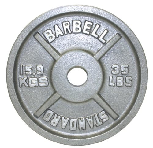 Troy Barbell O-035 Gray Olympic Weight Plate - 35 Pounds