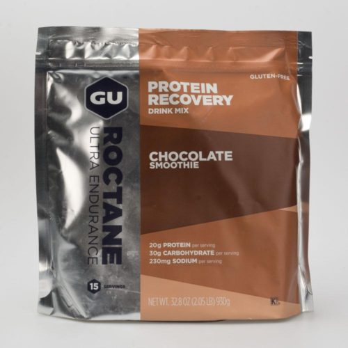 GU Roctane Protein Recovery Drink Mix (15 Servings) Nutrition Chocolate Smoothie