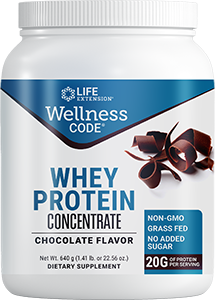 Life Extension Wellness Code Whey Protein Concentrate Choco Flav