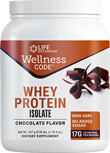Life Extension Wellness Code Whey Protein Isolate Chocolate Flav