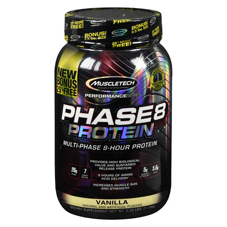 MuscleTech Phase 8 Protein Vanilla - 40.0 oz