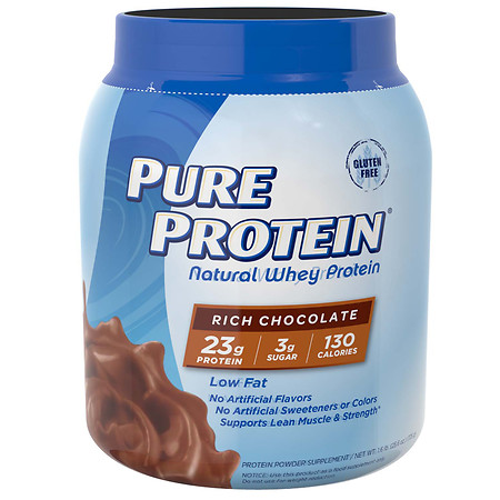 Pure Protein 100% Natural Whey Protein Rich Chocolate - 25.6 oz