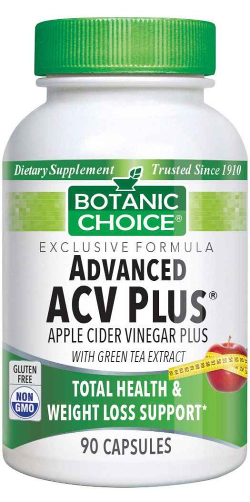 Botanic Choice Advanced Apple Cider Vinegar Plus® - Weight Loss Support Supplement - 90 Capsules