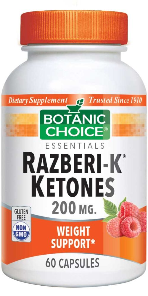 Botanic Choice Razberi-K® Ketones 200 mg - Weight Loss Support Supplement - 60 Capsules
