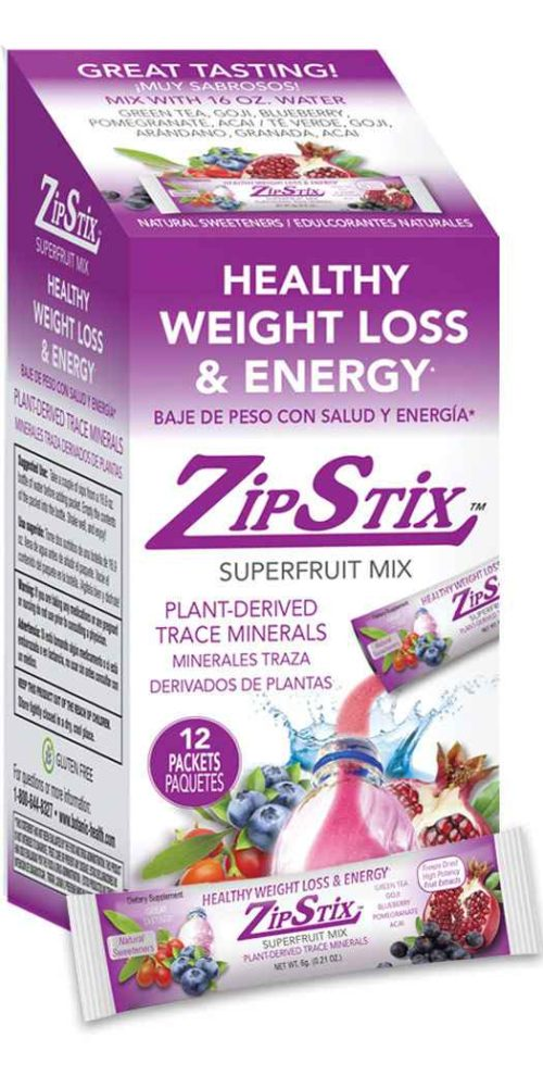 Botanic Choice ZipStix® Superfruit Mix - Weight Loss & Energy Drinks - 12 Pack