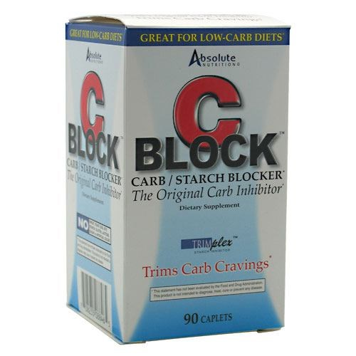 C-Block Carb and Starch Blocker 90 Caplets by Absolute Nutrition