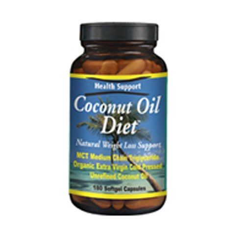 Coconut Oil Diet 180 Cap by Health Support