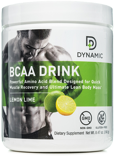 Dynamic BCAA Drink Lemon Lime 30 Servings by NutriDyn