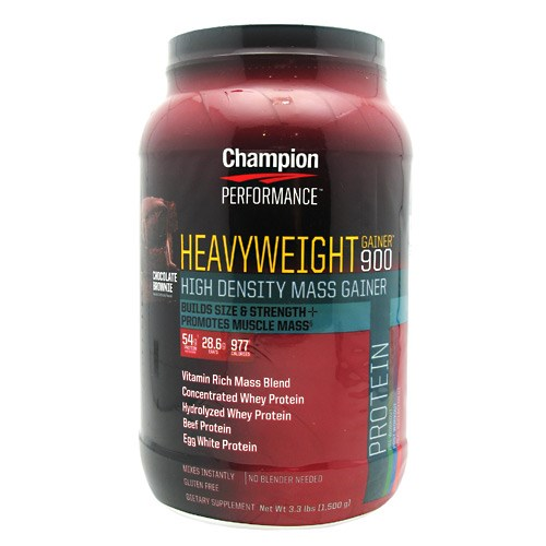 Heavyweight Gainer 900 Chocolate 3.3 Lbs by Champion Nutrition