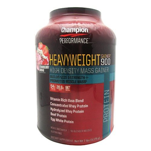 Heavyweight Gainer 900 Strawberry 7 Lbs by Champion Nutrition