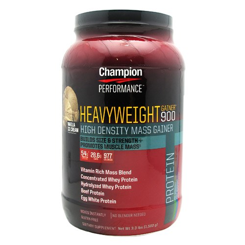 Heavyweight Gainer 900 Vanilla 3.3 Lbs by Champion Nutrition