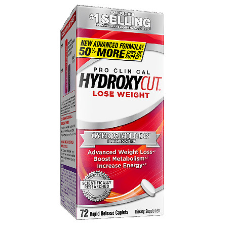 Hydroxycut Pro Clinical Weight Loss Dietary Supplement Caplets - 72.0 ea