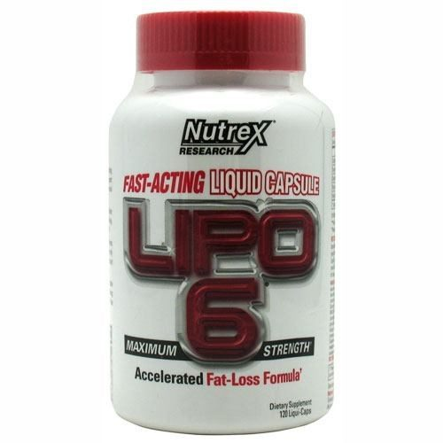 LIPO 6 White Label 120 Liquid caps by Nutrex Research