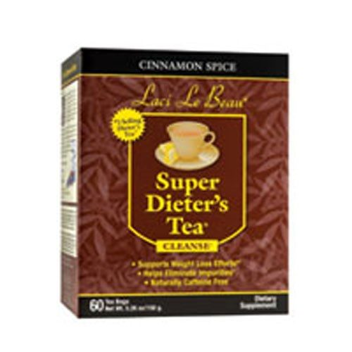 Laci Le Beau Super Dieters Tea Cinnamon Spice 60 Bags by Natrol
