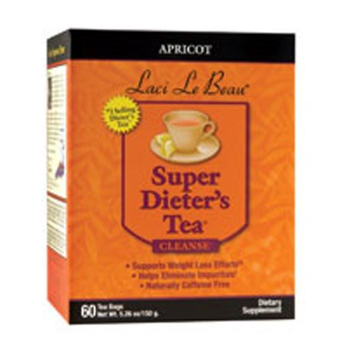 Laci Le Beau Super Dieters Tea Natural Apricot 60 Bags by Natrol