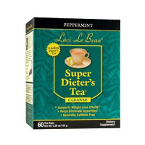 Laci Le Beau Super Dieters Tea Peppermint 60 Bags by Natrol