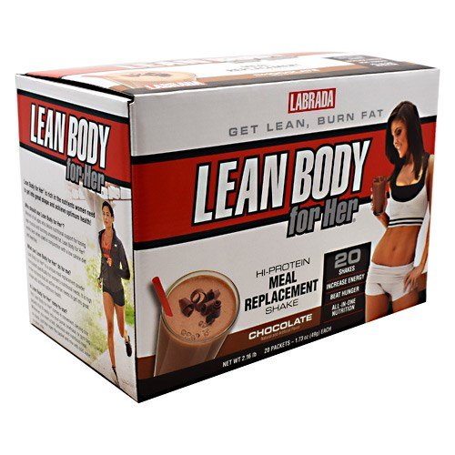 Lean Body For Her Chocolate Drink Mix 20 CT by LABRADA NUTRITION