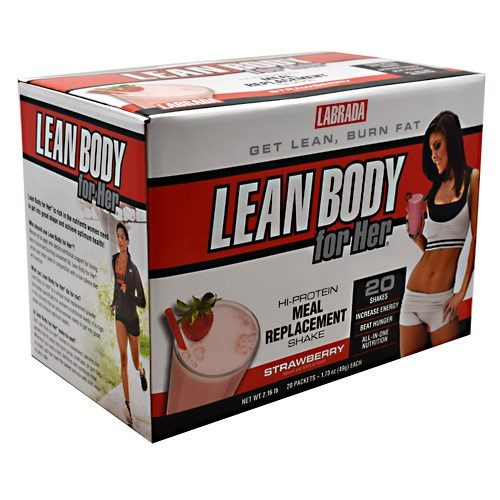 Lean Body For Her Strawberry 20 CT by LABRADA NUTRITION