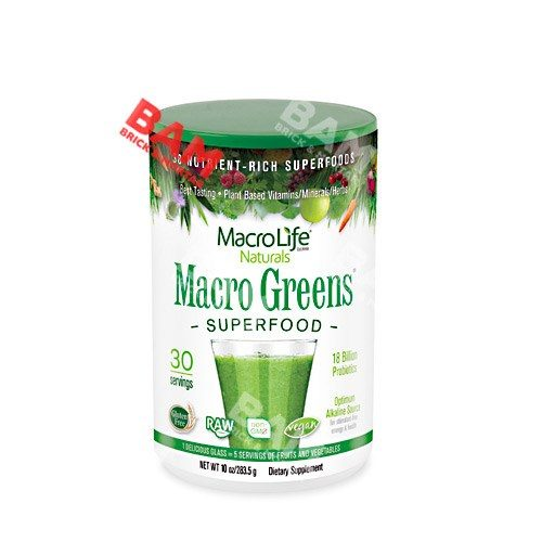 Macro Greens 10 oz by Macrolife Naturals