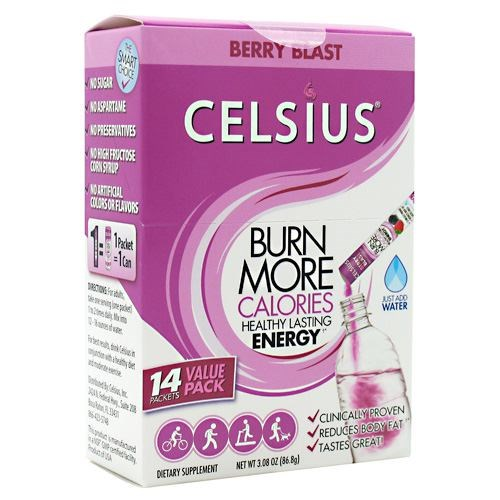 On-The-Go Calorie Burner Raspberry 14 Packets by Celsius