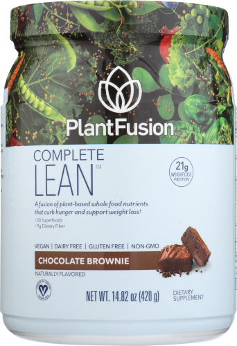 Plant Based Weight Loss Protein Powder Chocolate Lean 14.8 Oz by PlantFusion