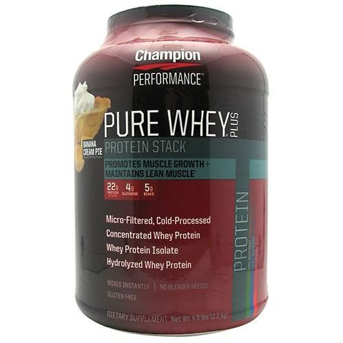 Pure Whey Plus Protein Powder Banana Cream Pie 4.8 lbs by Champion Nutrition
