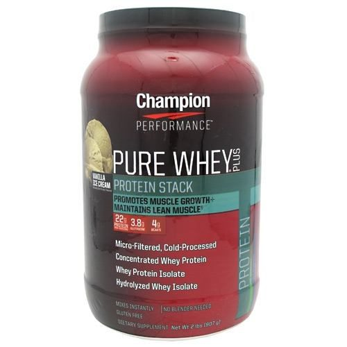 Pure Whey Plus Vanilla Ice Cream 2 Lb by Champion Nutrition