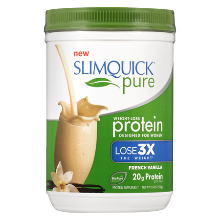 SlimQuick Pure Weight-Loss Protein Powder French Vanilla - 10.58 oz.